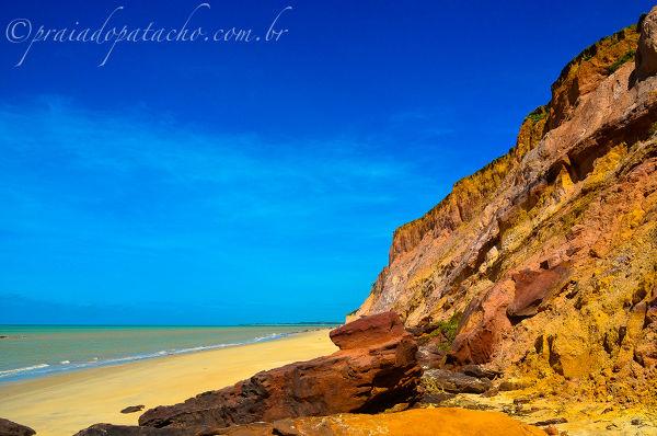 Falésias na Praia de Carro Quebrado